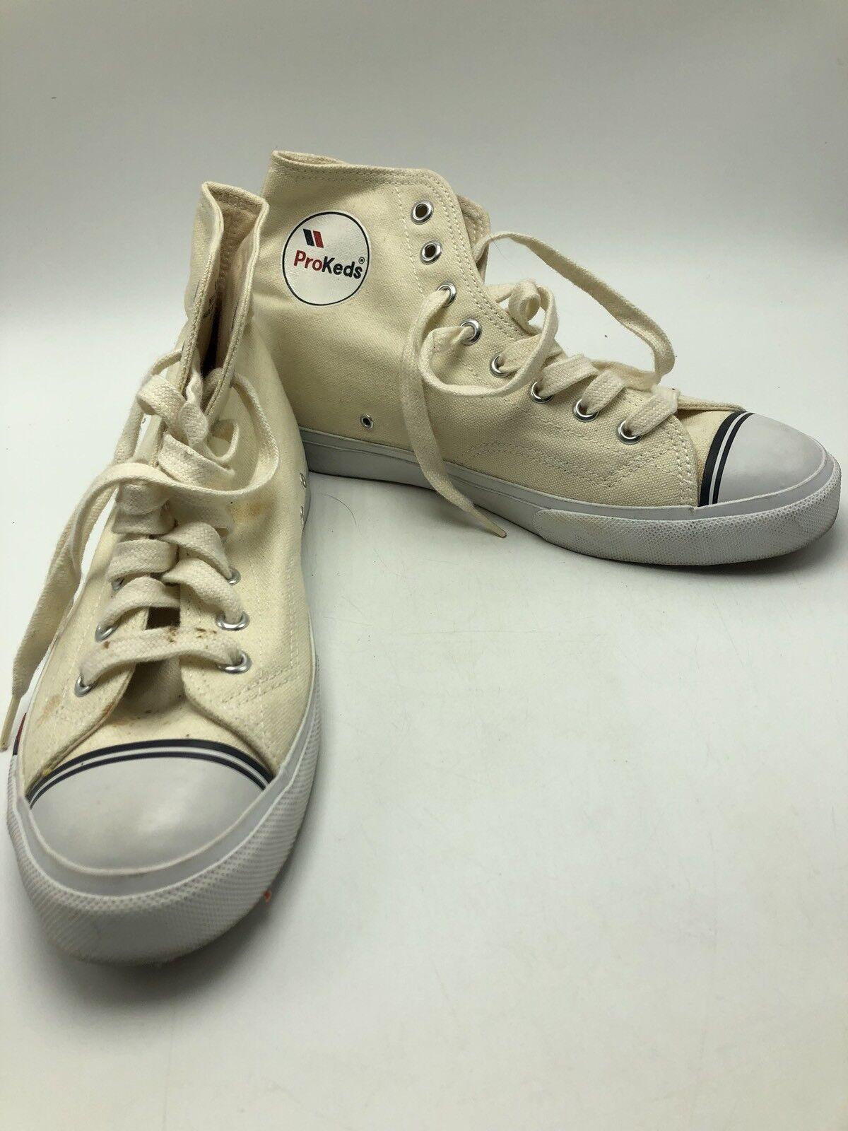 Pro Keds High Top White Canvas shoes Mens 8M
