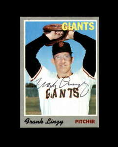 Frank Linzy Hand Signed 1970 Topps San Francisco Giants Autograph