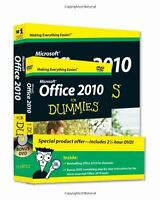 Office 2010 For Dummies, Book + Dvd Bundle By Wallace Wang, (paperback), For Dum on Sale
