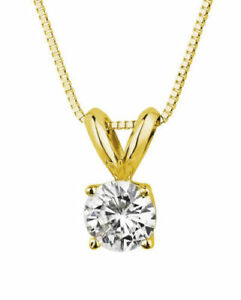 2-0-ct-Round-Cut-Solitaire-14K-Yellow-Gold-Pendant-Necklace-16-034-Chain