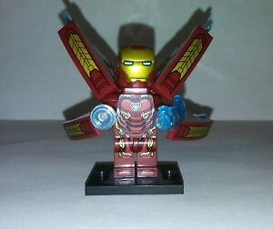 Details about Iron Man Mark 50 Armor Avengers Infinity War Unofficial Lego  Minifigure
