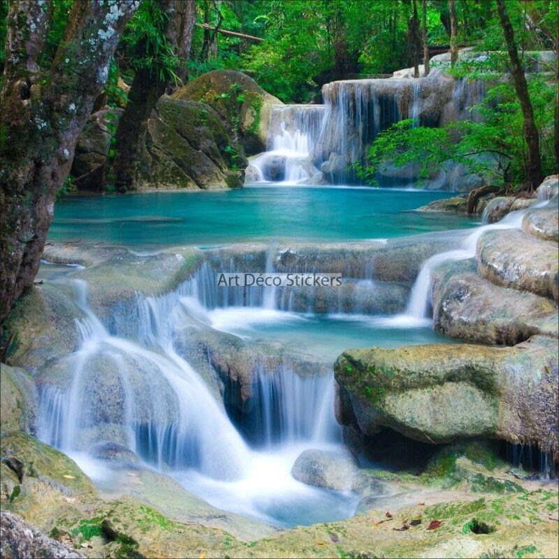 Wandaufkleber Deko   Fluss und Wasserfälle
