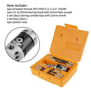 Tete-d-039-alesage-MT2-M10-F1-12-50mm-9pcs-12mm-Barre-d-039-alesage-Accessoire-Fraiseuse