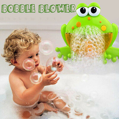 Objective Kids Baby Toy Bubble Tub Frog Automatic Shower Machine Blower Maker Bath Music Refreshing And Enriching The Saliva