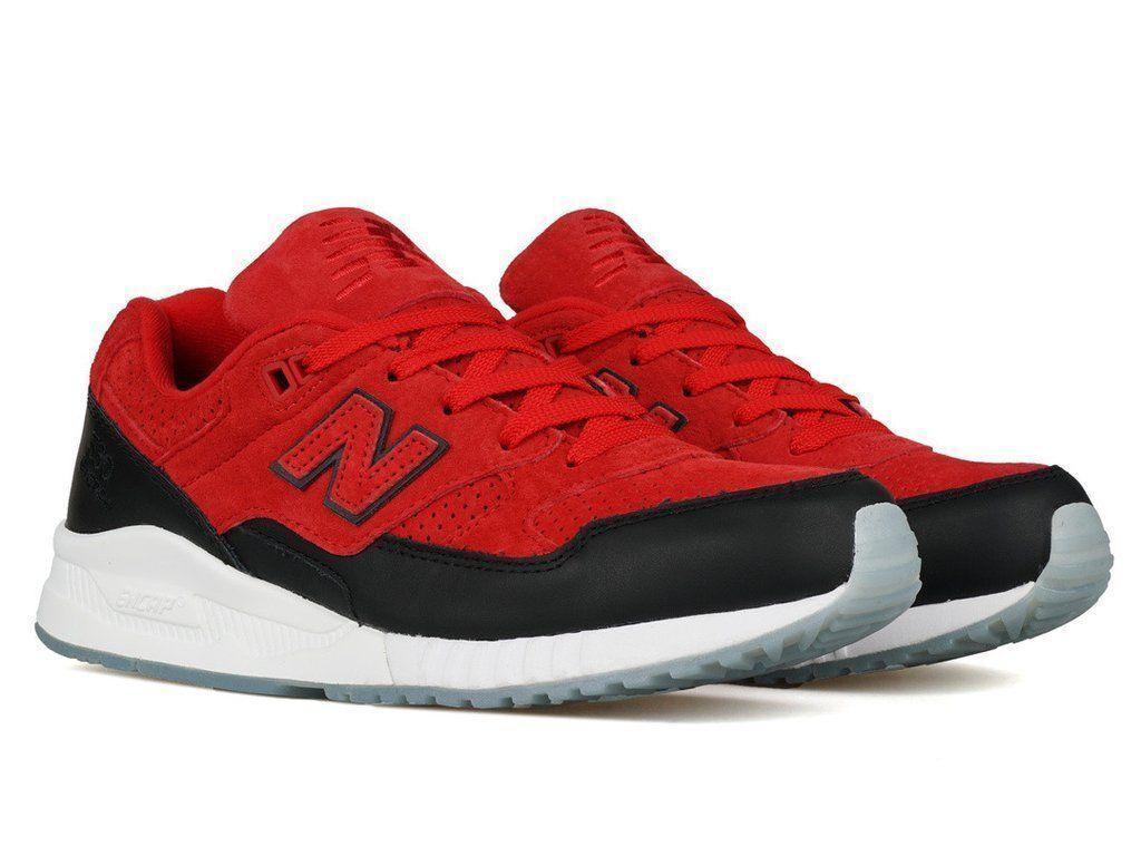 New Balance Classic scarpe da ginnastica 530 530 530 Uomo Dimensione 8.5 rosso nero bianca M530CBB Retro 7fa5cb
