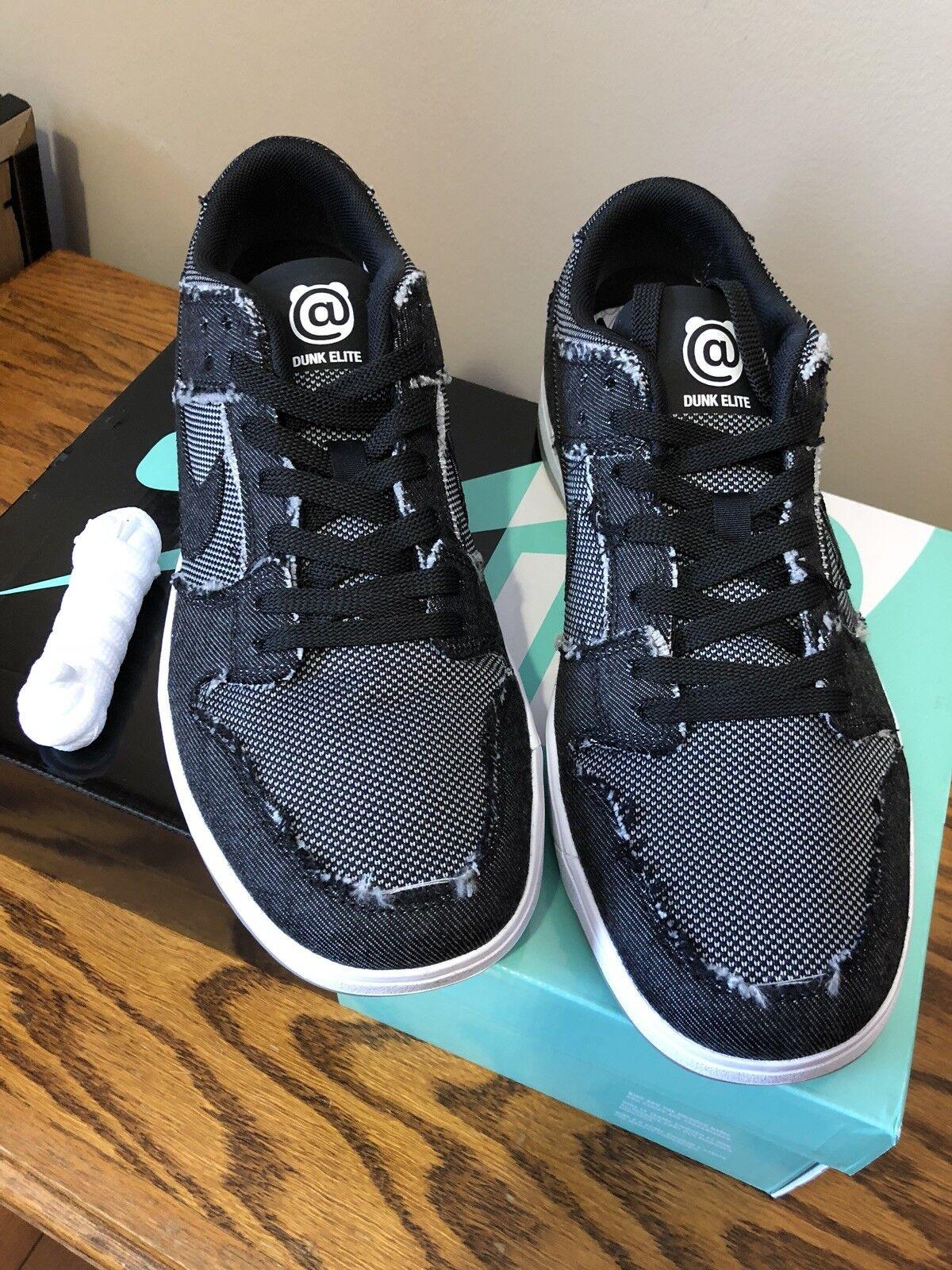 Nike Sb Zoom Dunk Low Elite QS X Size 10 Medicom Bearbrick Denim Be@rbrick