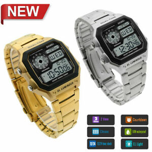 SKMEI-Men-Sport-Waterproof-Stainless-Steel-Chrono-LED-Digital-Quartz-Wrist-Watch