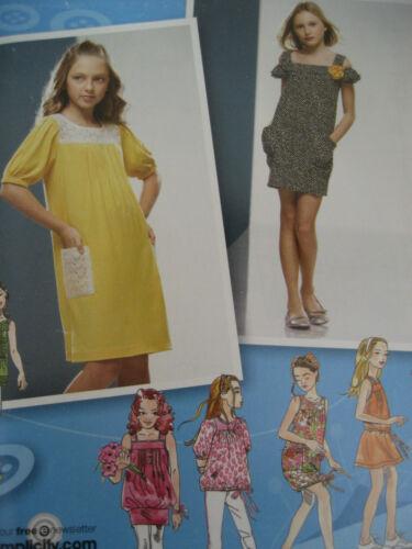 GIRLS SUPER CUTE SPRING SIMPLICITY #2983 SUMMER CASUAL DRESS PATTERN 8-16½