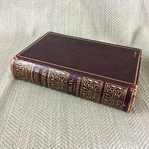 Antique-Jewish-Prayer-Book-Judaica-Leather-Hebrew-English-Succot-Tabernacles