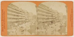 Marsiglia-Istantanea-Rue-Da-Noailles-Foto-Stereo-Th1L6n12-Vintage-Albumina