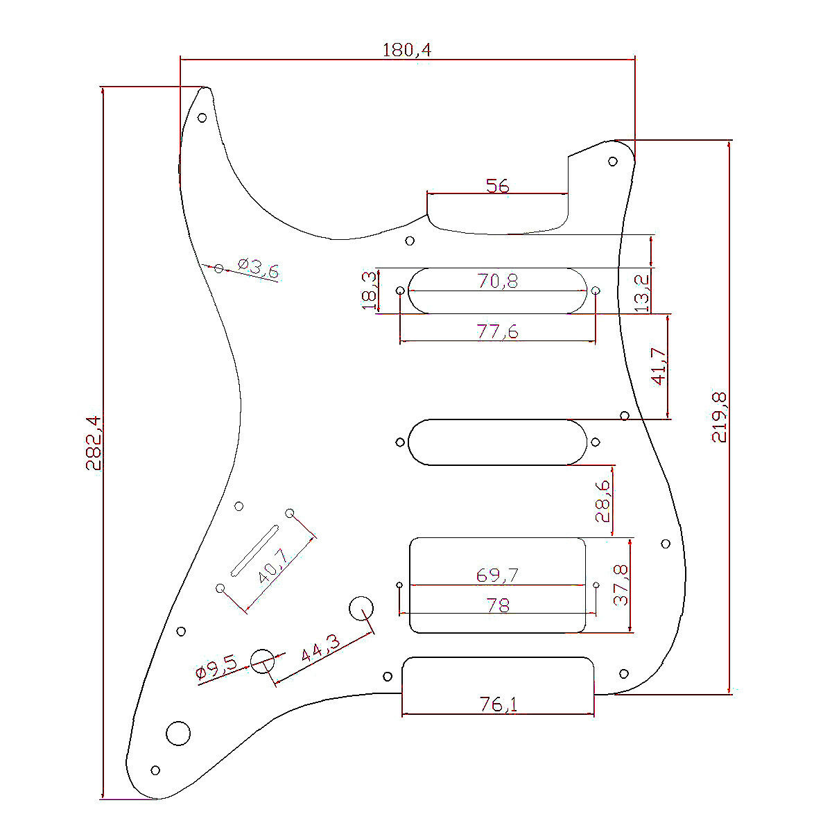 Left Handed Lefty Electric Guitar Pickguard For Fender Strat Parts Wiring Diagram Description