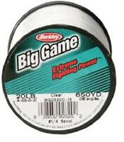 Berkley Trilene Big Game 1/4lb Clear Fast Shipping