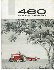Ih International 460 Utility Industrial Tractor Brochure Gas Diesel Farmall