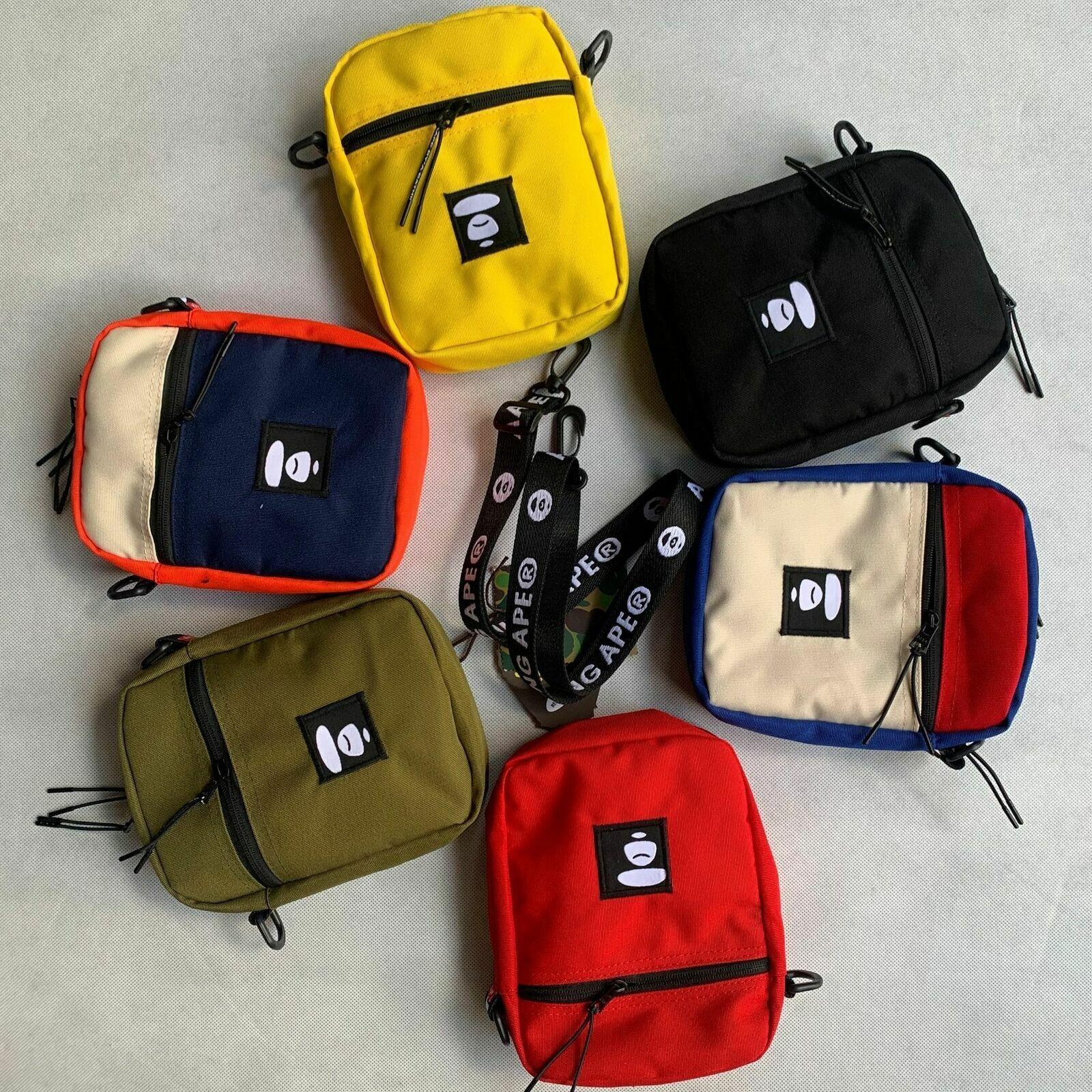 Porter BAPE A BATHING APE 1st Camo Sling Shoulder Bag Cross body Messenger Bag