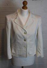 ESCADA Ladies White Cotton Jacket / Blazer Size DE 38 - UK 12 - IT 44 - FR 40