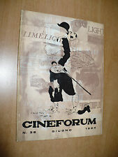 CINEMA MENSILE CINEFORUM N.36 GIUGNO 1964 HAROLD LLOYD LUCI DELLA RIBALTA KEATON