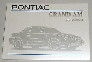 Istruzioni-D-039-Uso-Manuale-Pontiac-Grand-Am-1992-1998-in-Tedesco