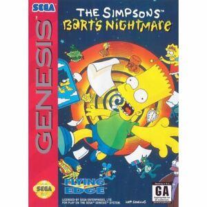 The-Simpsons-Bart-039-s-Nightmare-Sega-Genesis-Game-CLEAN-VG