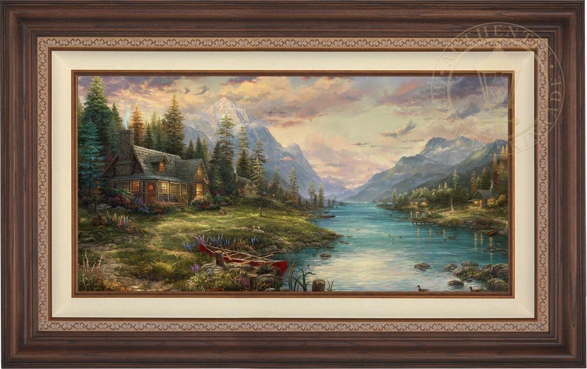 Thomas Kinkade Studios Father's Perfect Day 18 x 36 LE E E Canvas (Framed)