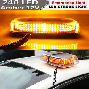 Atv,rv,boat & Other Vehicle Truck Light System Super Bright 240 Led Emergency Strobe Amber Light Roof Top Flashing Warning Lamp 12v Yellow Strobe Warning Beacon Lights