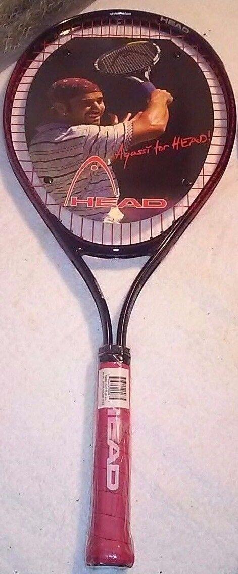Agassi  cabeza furia 25 Nuevo Con Etiquetas Vintage Raqueta  Los mejores precios y los estilos más frescos.