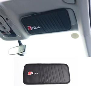 AUDI SLINE Car CD Storage Visor Interior Car Accessories Black 1pcs NEW