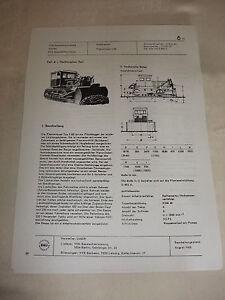 Glorieux Rda Publicité Publicité Prospectus Feuille De Données Chenille Bouteur S 80 Urss 1968-afficher Le Titre D'origine