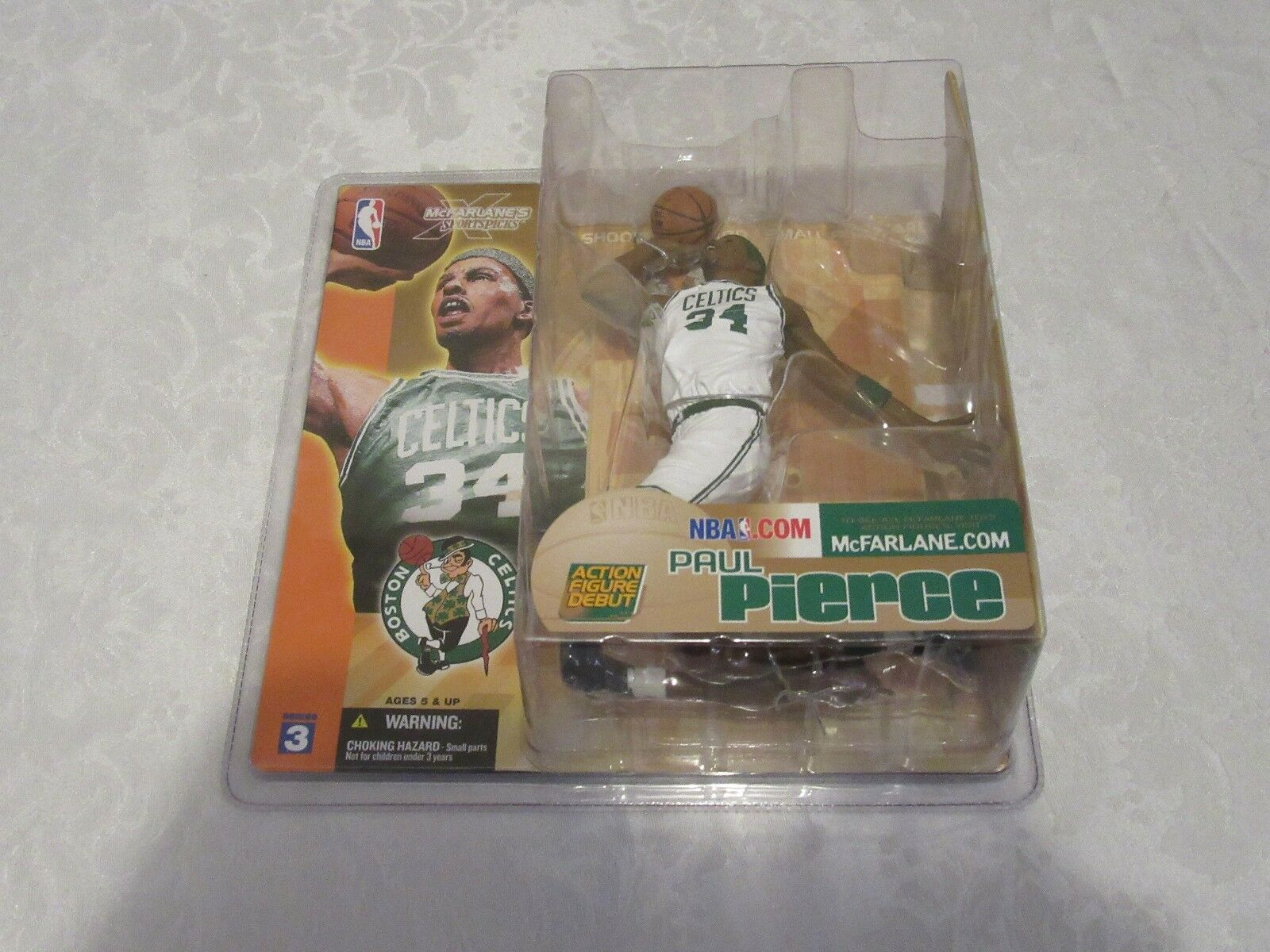 McFarlane NBA Series 3 Paul Pierce Chase Variant bianca Jersey Celtics Figure