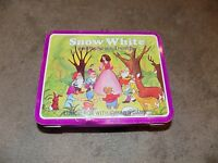 Vintage Metal Lunch box Only No Thermos Snow White and the Seven Dwarfs