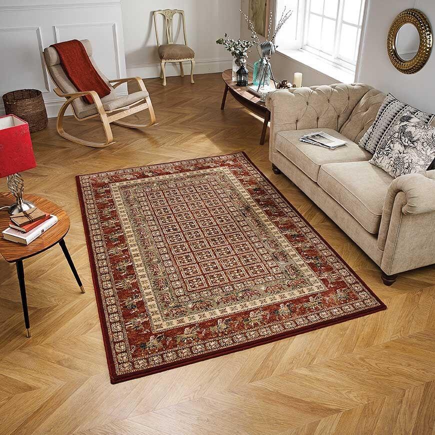 Royal classic traditionnel 1527 1527 1527 r rouge laine tapis en tailles diverses et runner   Prix Modéré  2e7427