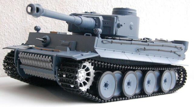 RC Panzer Tiger I 1:16 NEU V6.0s Metall-Stahlgetriebe 6mm BB u IR Battle System