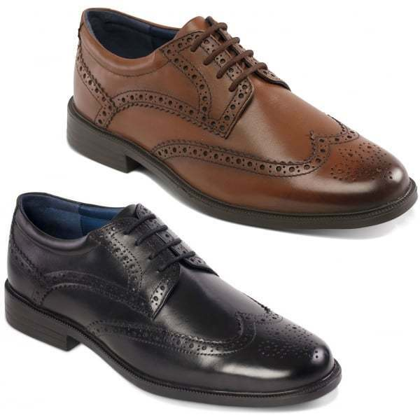Padders BERKELEY Mens Leather Wide (G Fit) Lace Up Formal Office Brogue schuhe
