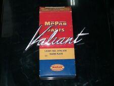 1960 Plymouth Valiant NOS MoPar DECK LID NAMEPLATE #2196630