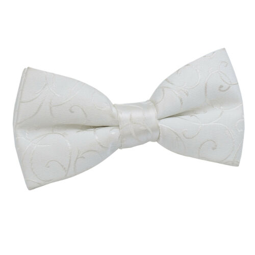 Mens Boys Bow Tie Woven Swirl Formal Casual Wedding Adjustable Pretied by DQT