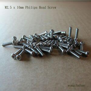 M2.5 x 10mm Philips Head Screw - 50 pcs
