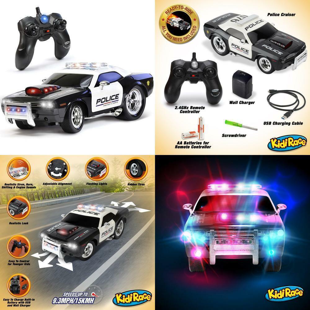 Kidirace RC RC RC Remote Control polizia auto for bambini, Rechargeable, Durable e... dca55c