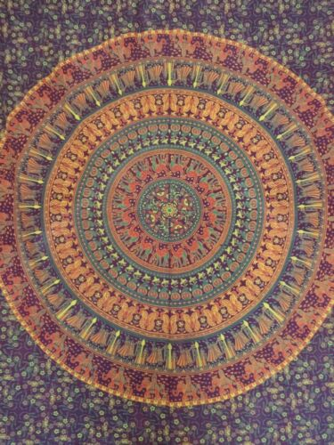 Indian Mandala Tapestry Bohemian Twin Wall Hanging Hippie Cotton Throw Blanket