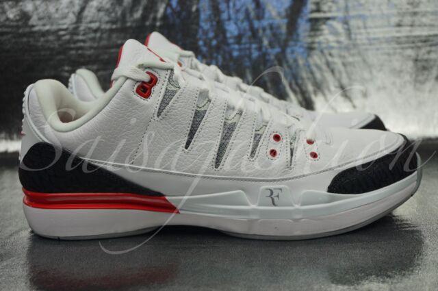 0f3d4020ed97 Nike Zoom Vapor RF X AJ3 Roger Federer Air Jordan Fire Red 709998 106 Men Sz