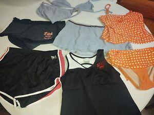 Guiño Parcial Oposición  Mixed Lot Of 8 Women's Size L Shorts, Bikinis, And Workout Top Nike  Abercrombie   eBay