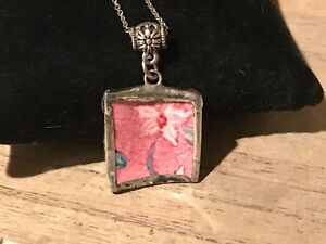 Recycled-Broken-Porcelain-Jewelry-Pink-Floral-Pendant