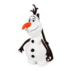 bb28874654fac Image is loading Disney-Frozen-Olaf -Plush-Backpack-Adjustable-Straps-Bookbag-