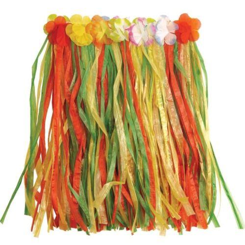 Kids Flowered Hawaii Hawaiian Luau Hula Skirt Fancy Dress Party Accessories