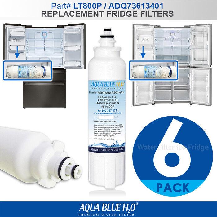 6X INTERNAL FRIDGE FILTER REPLACEMENT FOR LG LT800P BY AQUA Blau H20