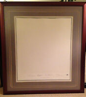 BEATLES The White Album LP COVER Record Art FRAMED Print Lithograph Plate Signed