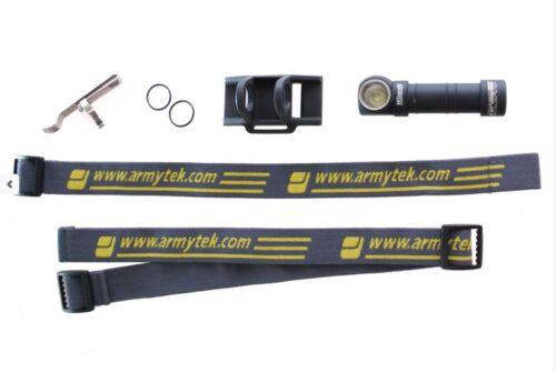 White Armytek Wizard Pro v3 XHP50 Headlamp w// D2 Charger /& 3400 Battery Combo
