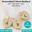 Personalizado Grabado Nombre Fecha 3 para Mujer Rosa Oro Plata Gancho Collar de corazón