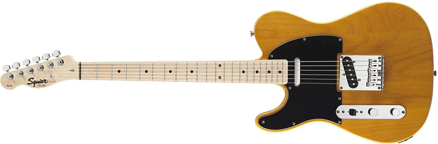 Squier Affinity Telecaster Left-Handed Electric Guitar, Maple Fingerboard