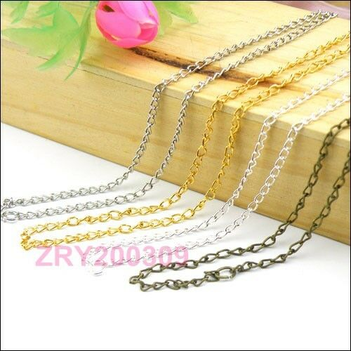 8Strands 2mm Ring Findings Chains//Necklace 50cm Silver//Gold//Bronze etc R0158