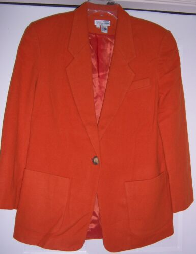 Jacket Alexander Medium Coat 1980's size Vtg Blend Lauren Blazer Wool BSpR7XXqw