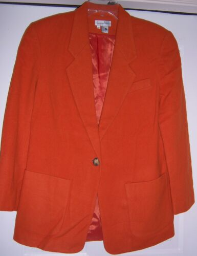 Coat Blend Jacket Blazer Medium Vtg Wool Alexander size 1980's Lauren 7CwxYqSY